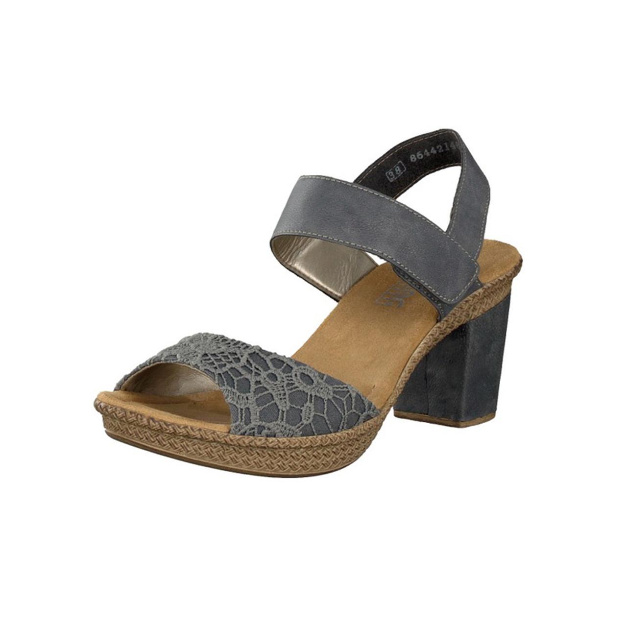 Rieker Women's Rabea 61 Sandal Blue