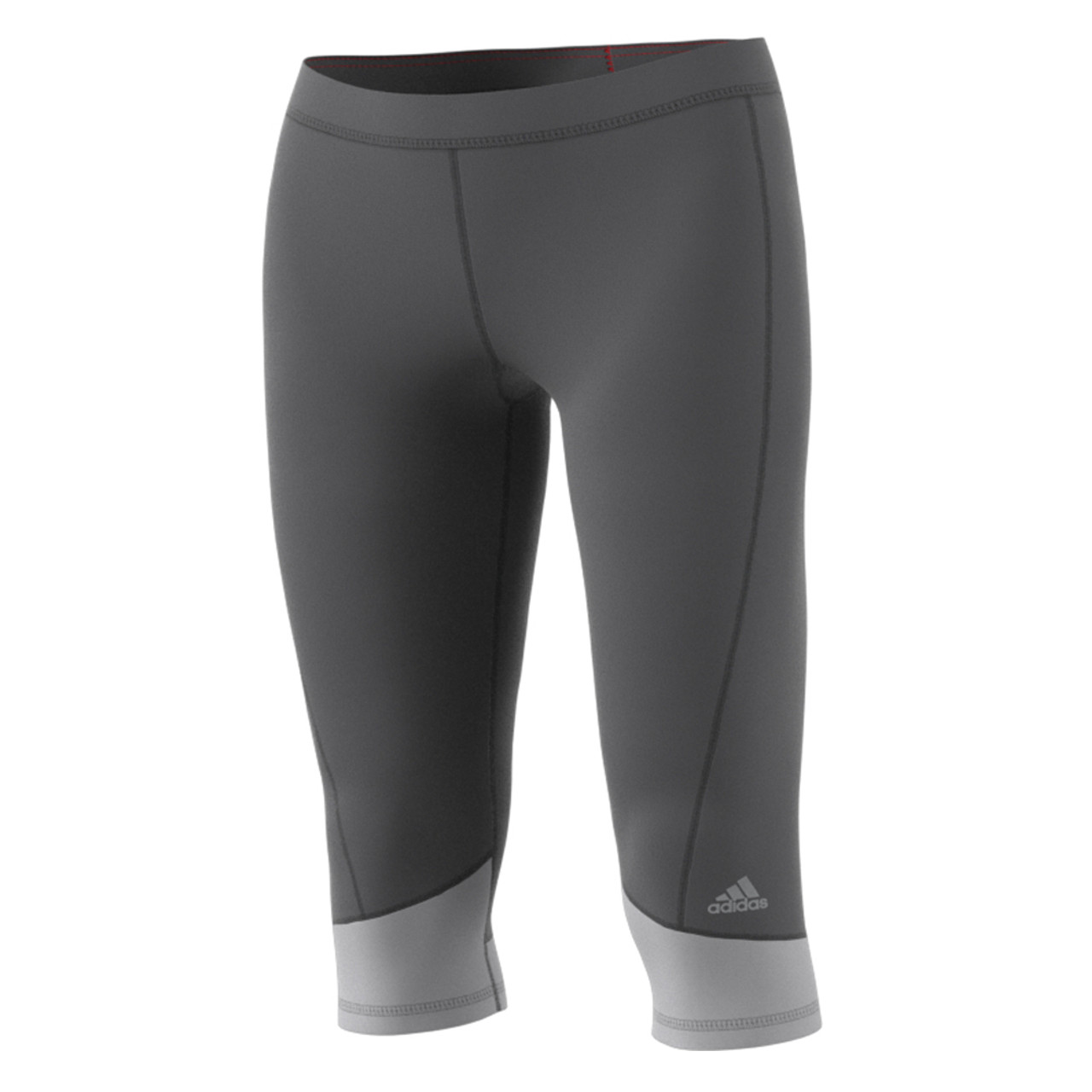 deb0885a4eb10 Adidas Women's Tech Fit Capri Pant - Grey | Discount Adidas Apparel ...