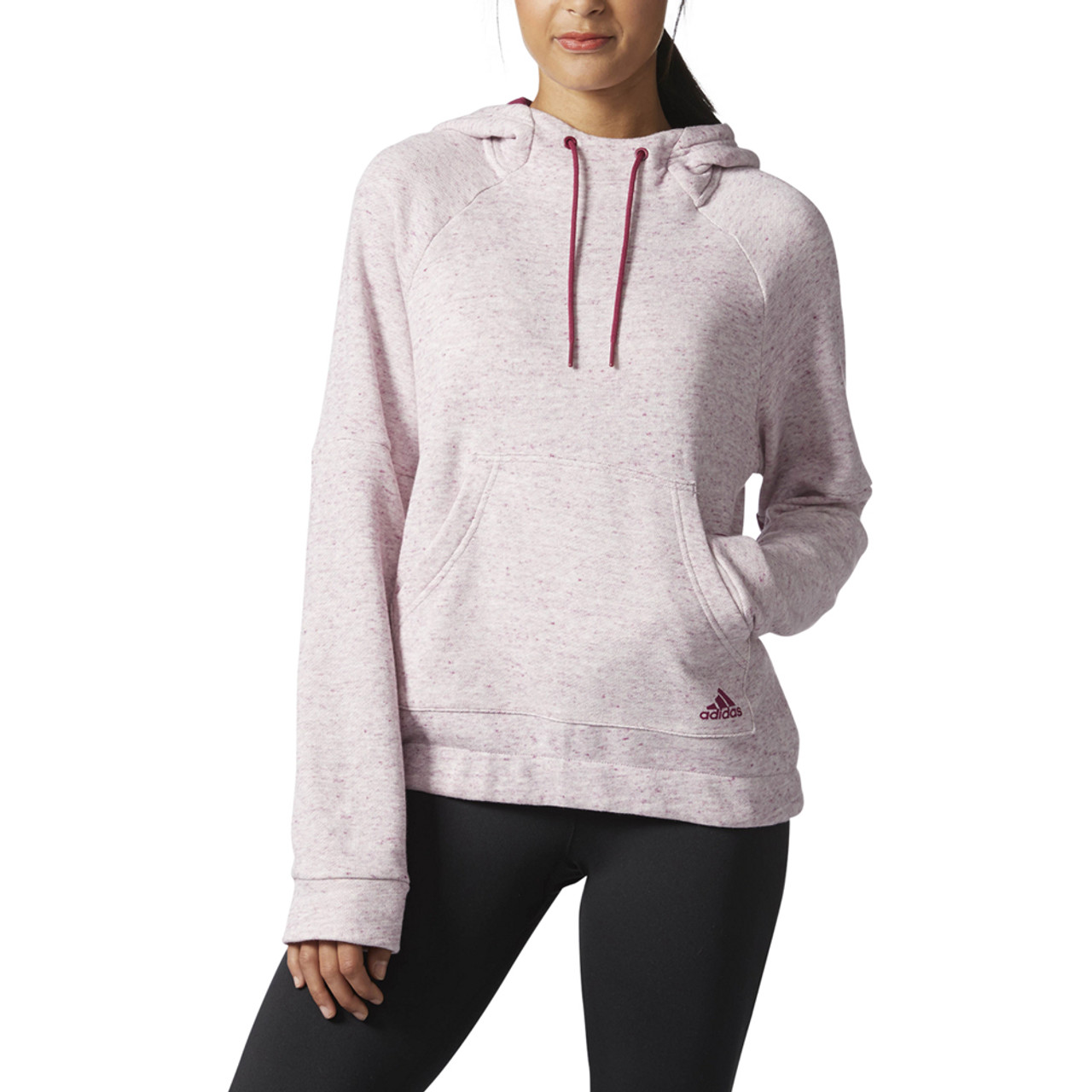 énorme réduction 7e8c0 5c6c6 Adidas Women's Sport 2 Street Pull Over Hoodie Mystery Ruby