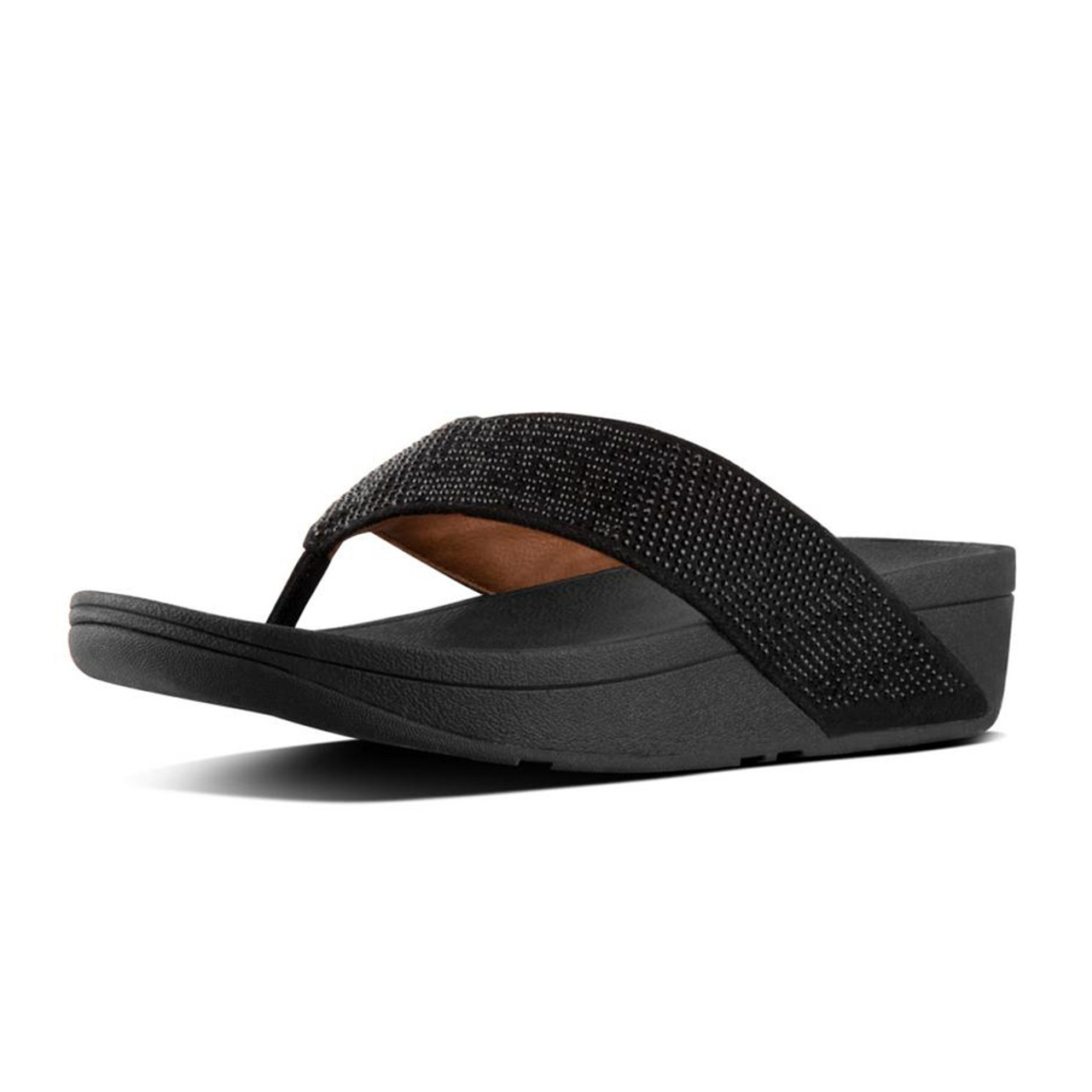 7160d78bfc1d Fitflop Women s Ritzy Thong Sandal Black - Shop now   Shoolu.com