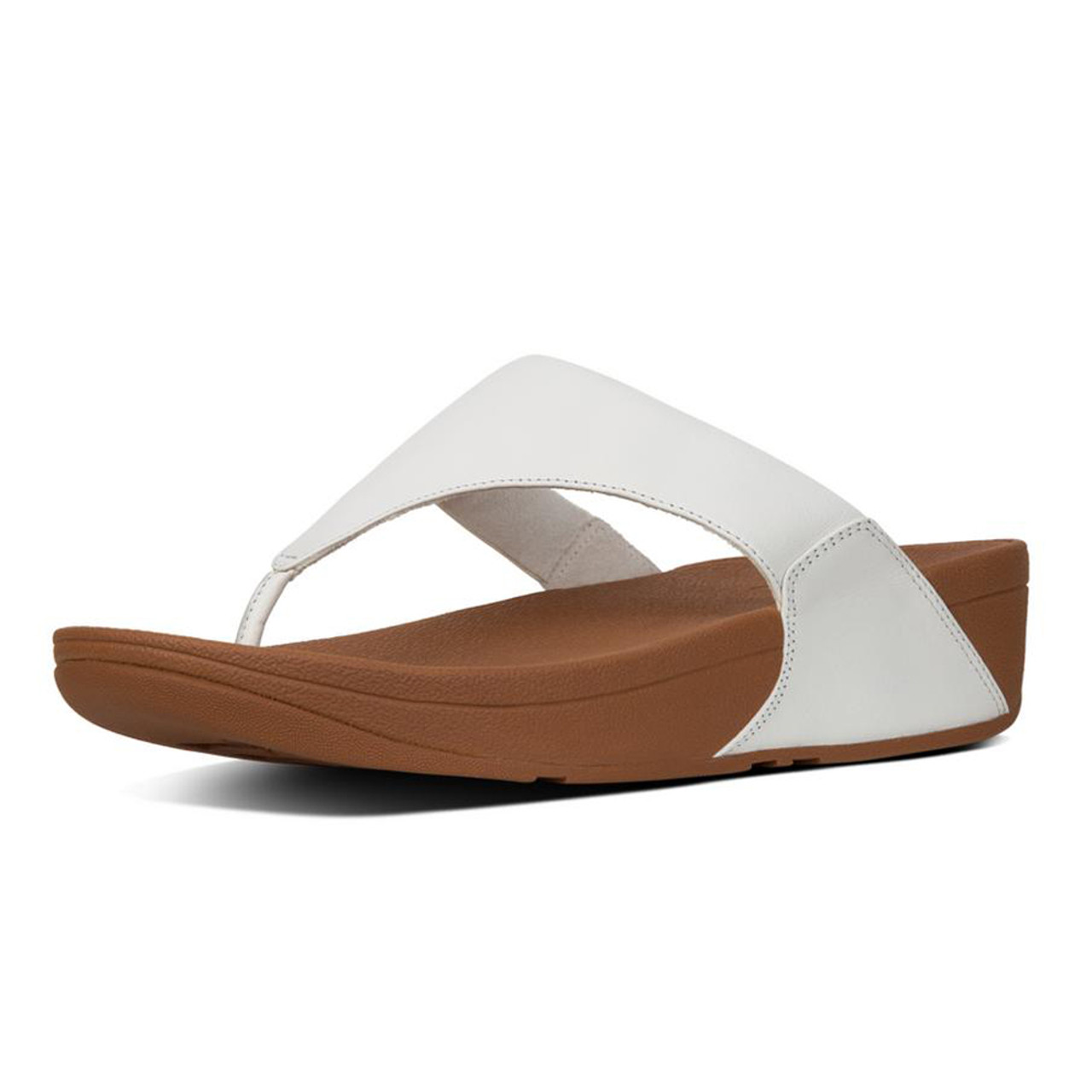 9b8551d2c1dfea Fitflop Women s Lulu Leather Thong Sandal Urban White - Shop now    Shoolu.com