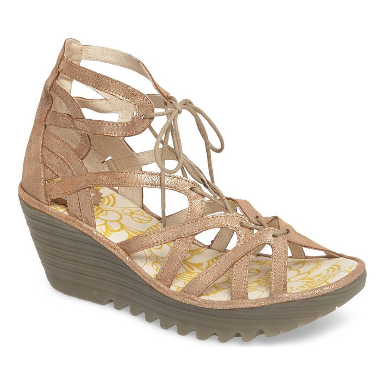 5e268e27c3 Fly London Women s Yuke Wedge Sandal Luna - Shop now   Shoolu.com
