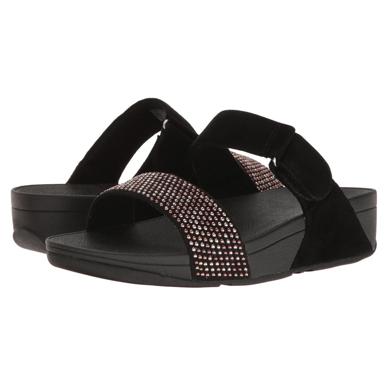 69d4fc59e0d Fitflop Women s Lulu Popstud Slide Black - Shop now   Shoolu.com