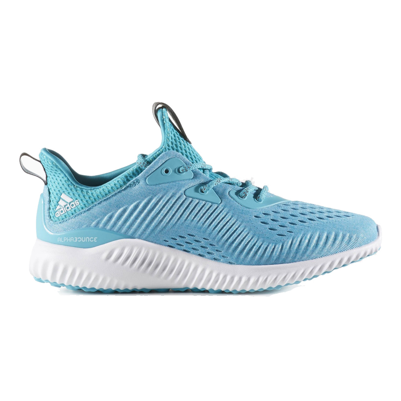 495d1940b Adidas Women s Alphabounce EM Running Shoe Blue White Clear Aqua - Shop now
