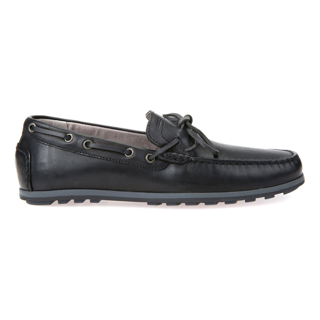 86c08b0674b2a Geox Men's Mirvin Moccasin - Black | Discount Geox Mens Shoes & More ...