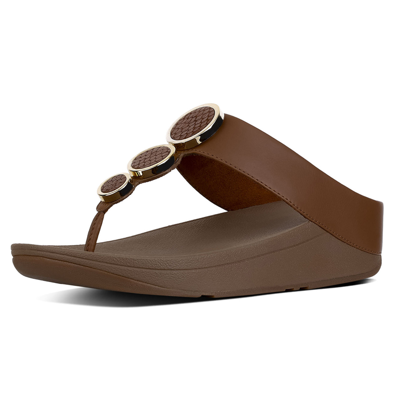 2f06413d7 Fitflop Women s Halo Toe Thong Dark Tan - Shop now   Shoolu.com