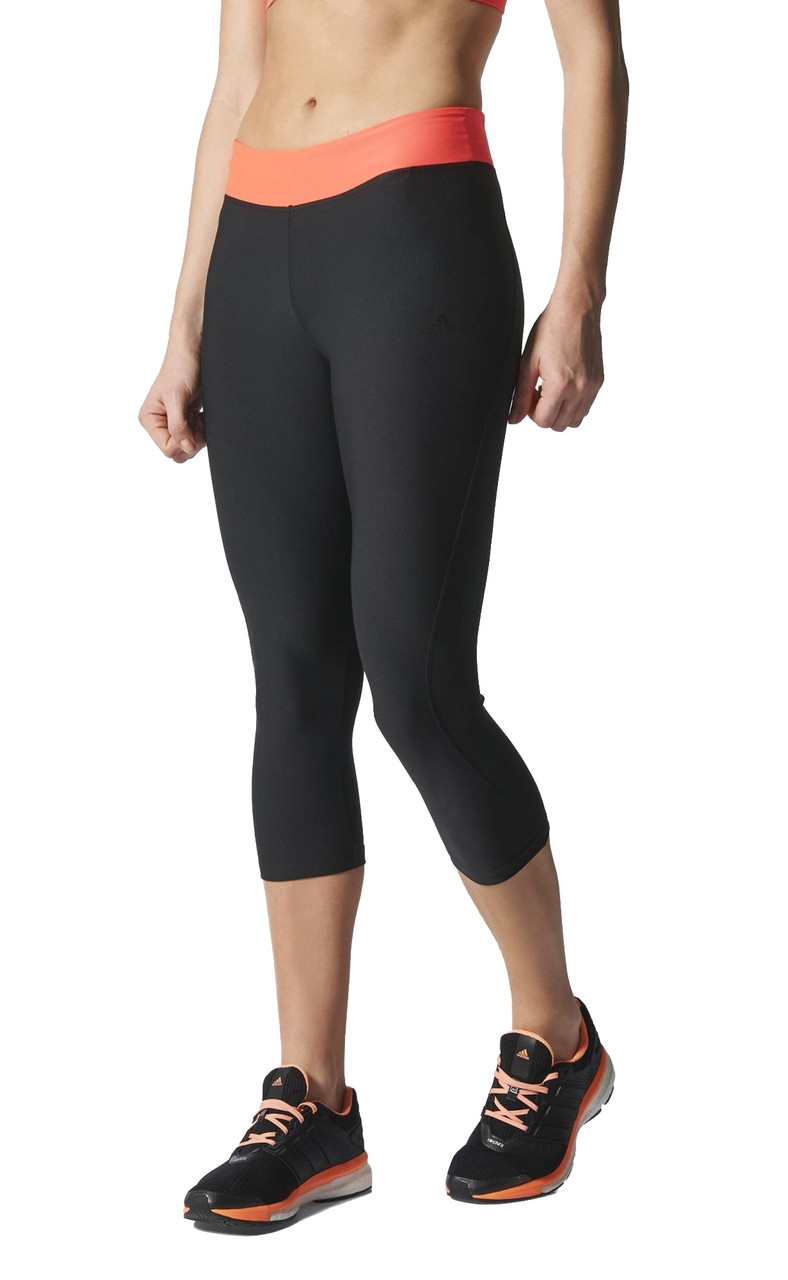 c09a21886971 Adidas Women s Ultimate Fit Three-Quarter Tights Black Flash Red - Shop now
