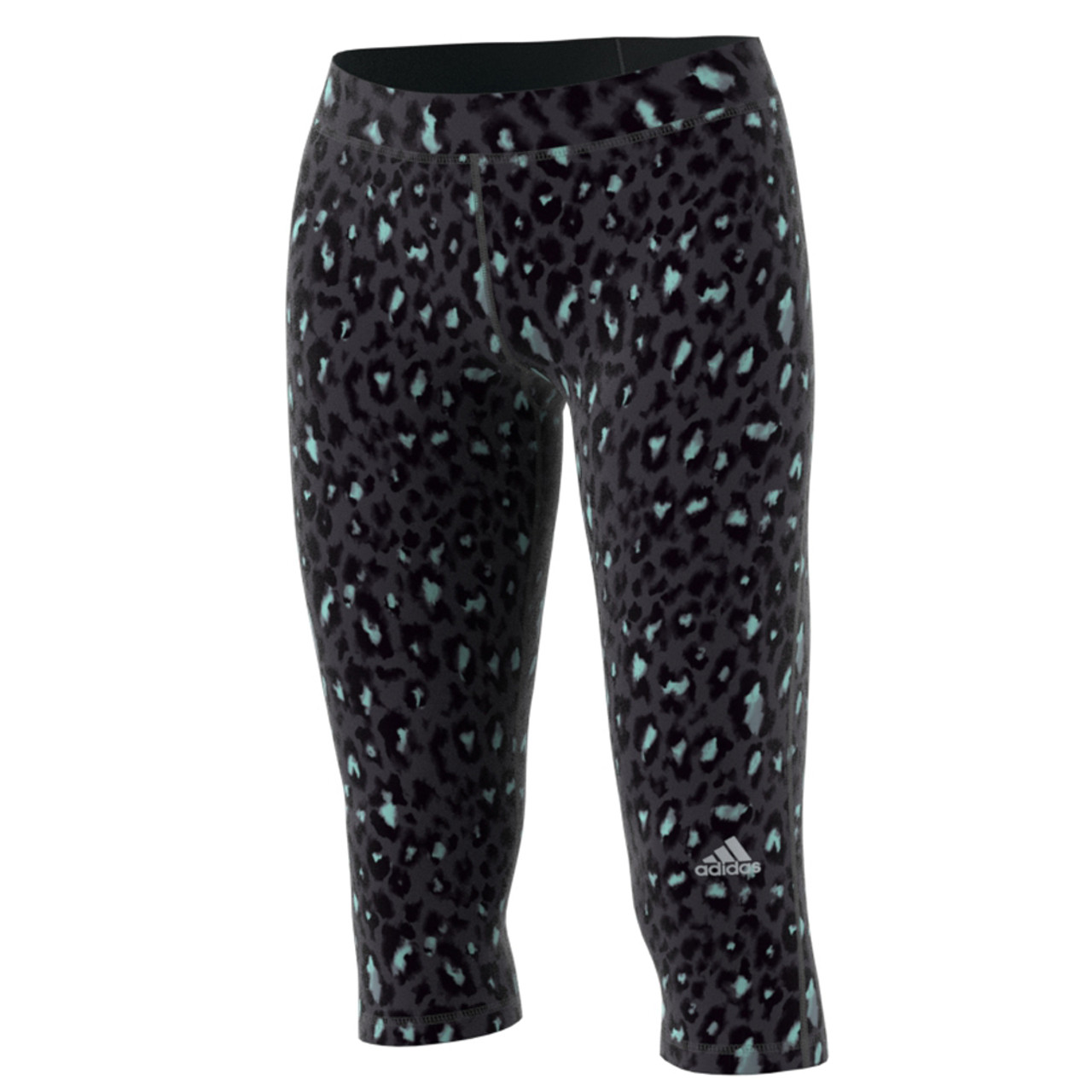 0799ba565be3f Adidas Women's Techfit Stadium 3/4 Capri Tights Black Print - Shop now @  Shoolu