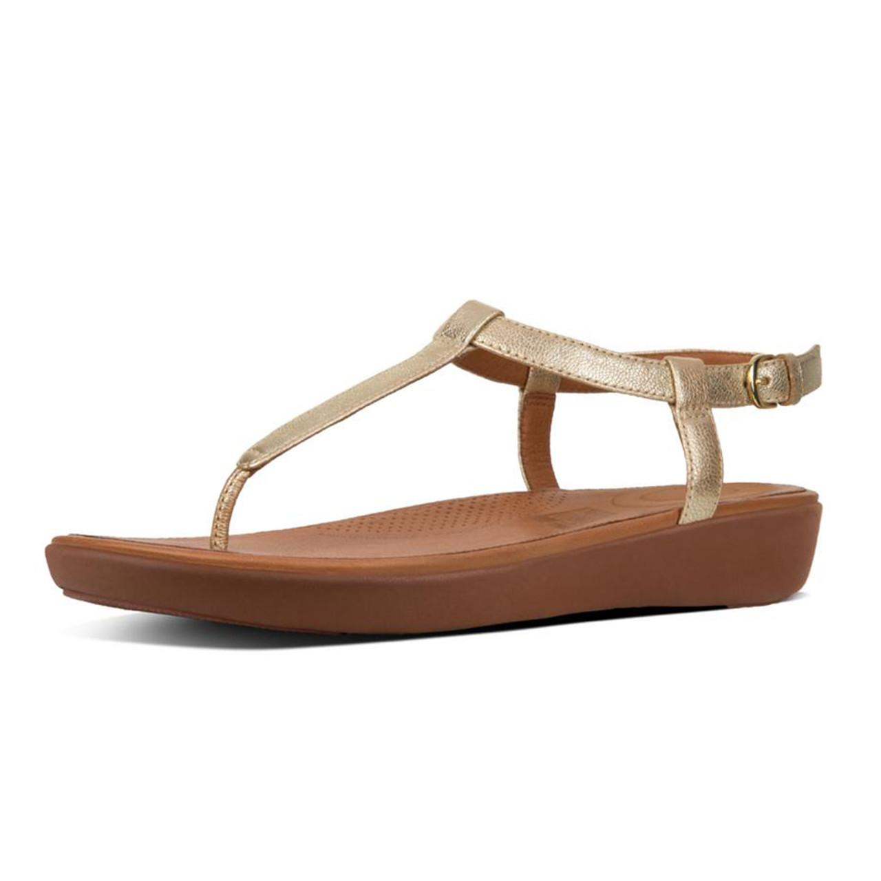 d3b77e112059 Fitflop Women s Tia Toe Thong Sandal Pale Gold - Shop now   Shoolu.com