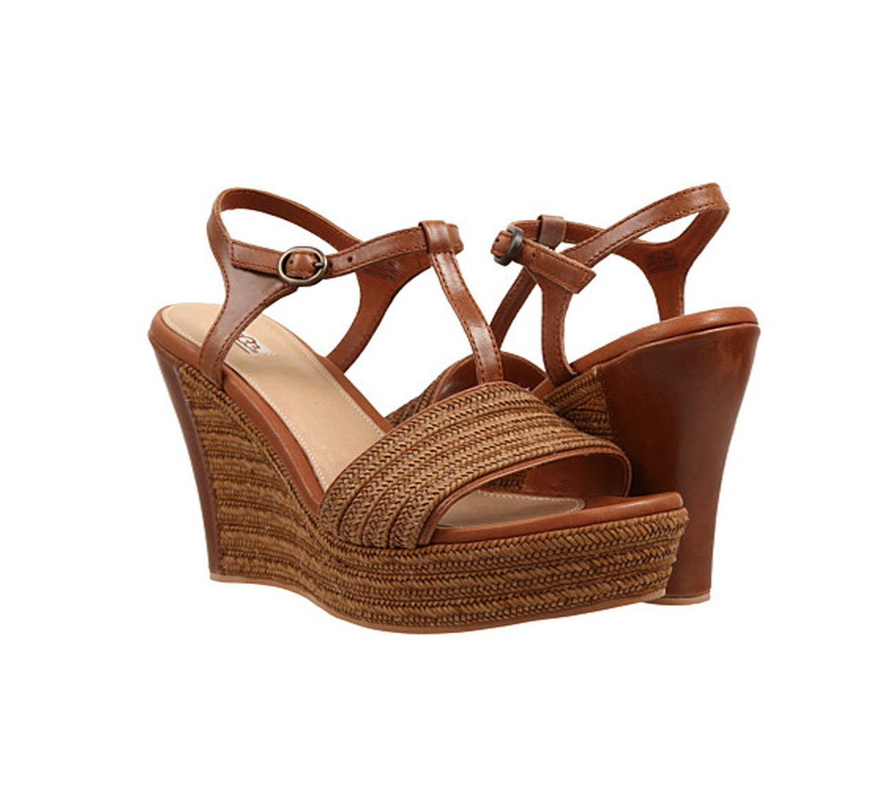 a6614d8bc5a UGG Women's Fitchie Wedge Sandal Rust
