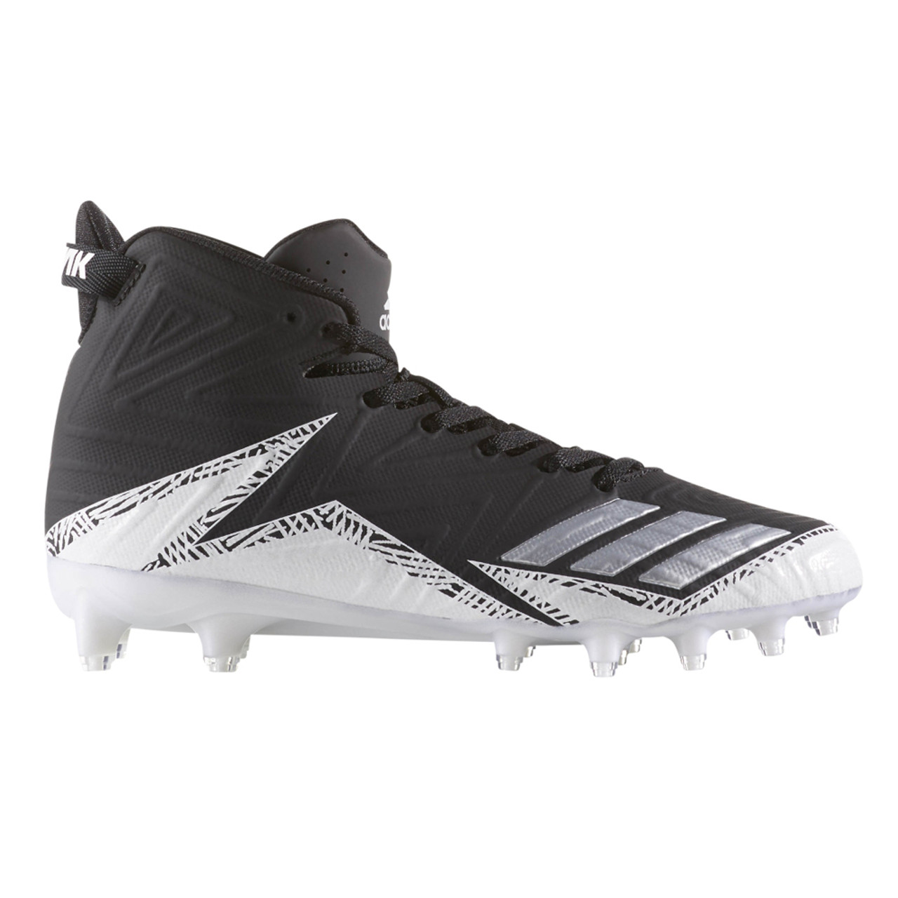 best sneakers b4849 2428e Adidas Men's Freak X Carbon Mid Football Cleat Black/Silver