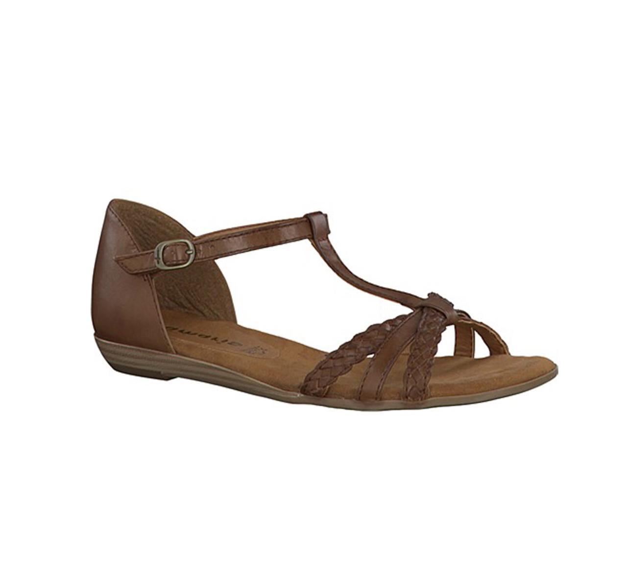 Tamaris Women's 28137 Sandal Stone Pewter