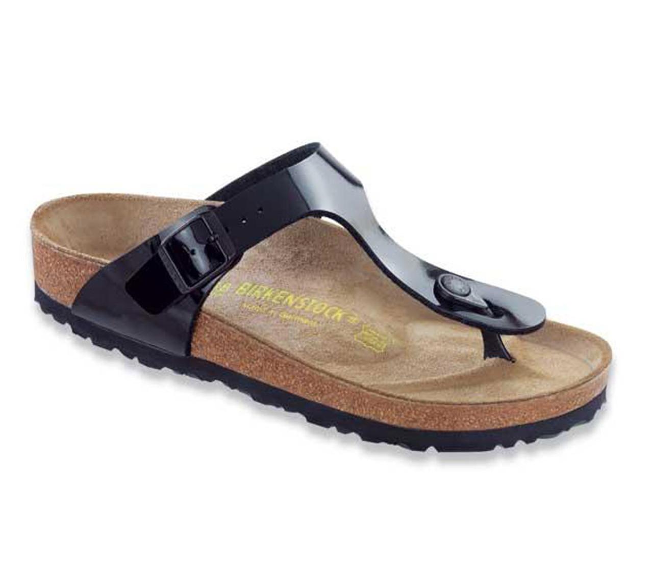 6708ad3d4 Birkenstock Women s Gizeh Sandal Black Patent - Shop now   Shoolu.com