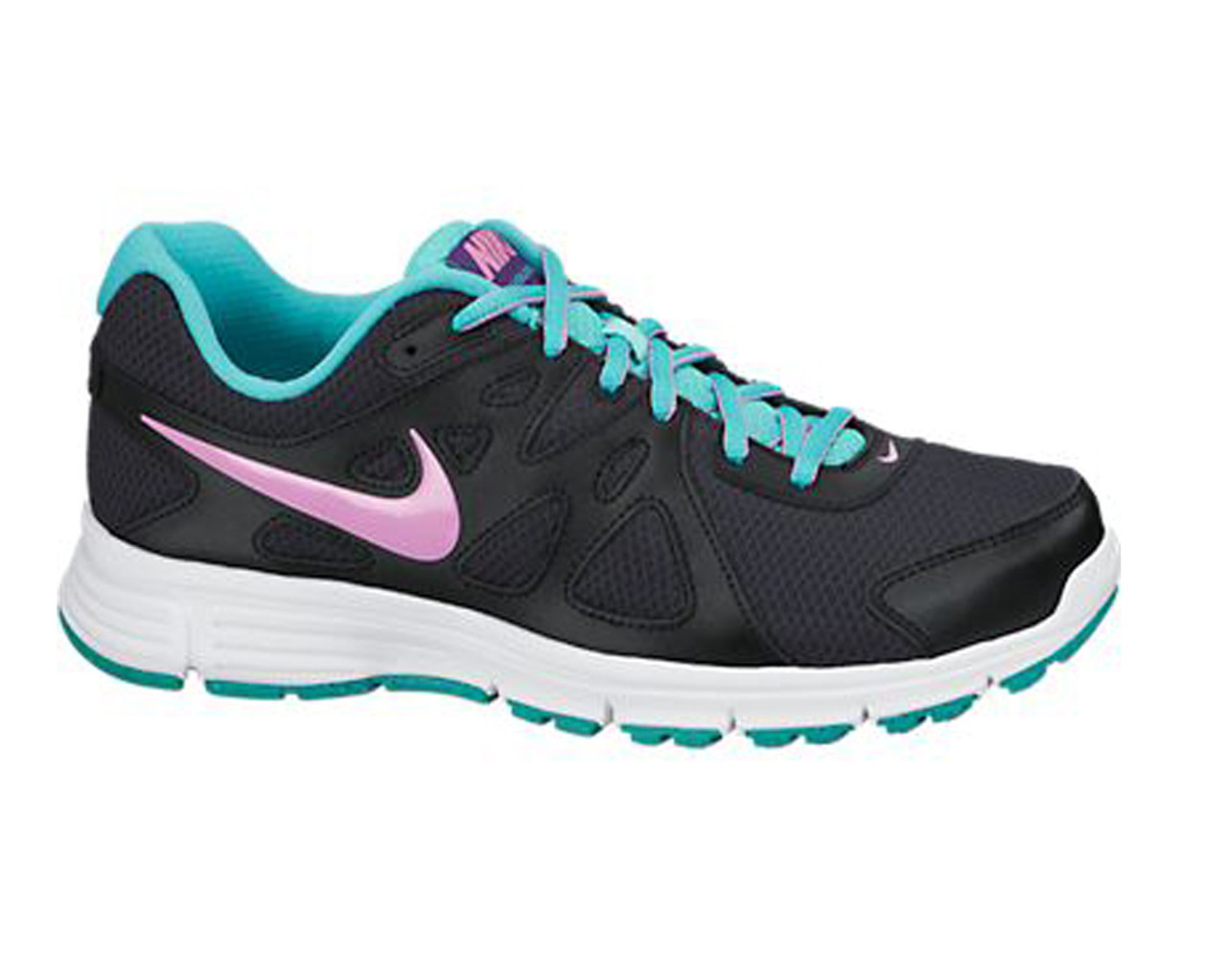 Nike Women s Revolution 2 Running Shoes Black Hyper Jade - Shop now    Shoolu. c4f308249