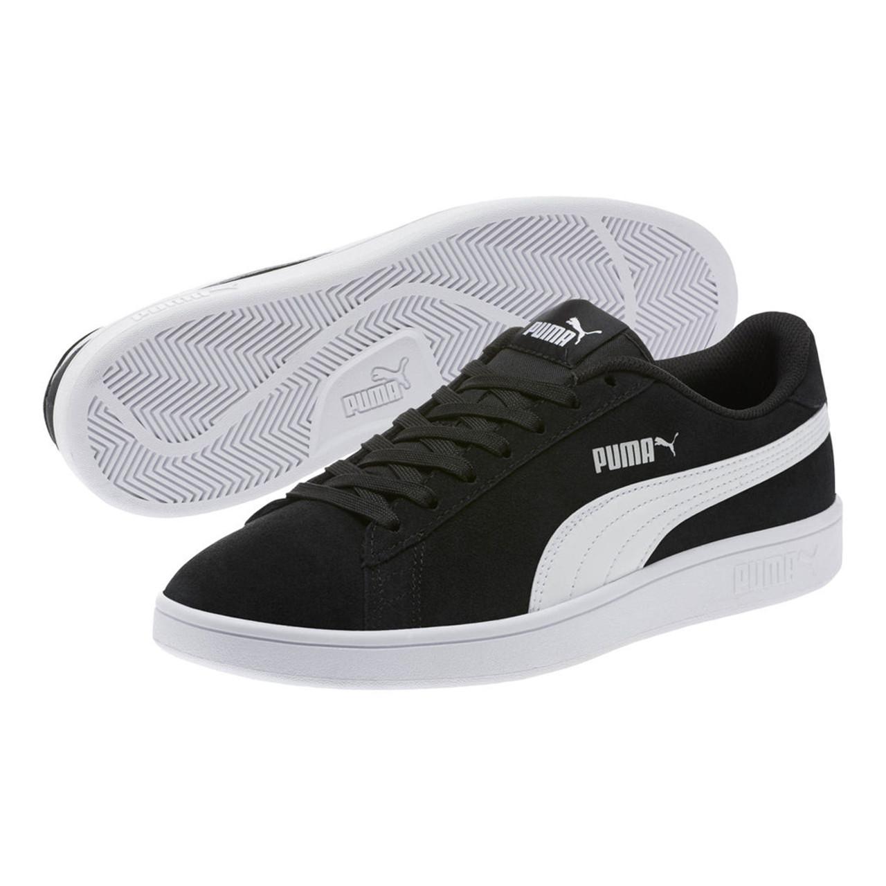 Puma Men's Puma Smash V2 Sneaker BlackWhiteSilver