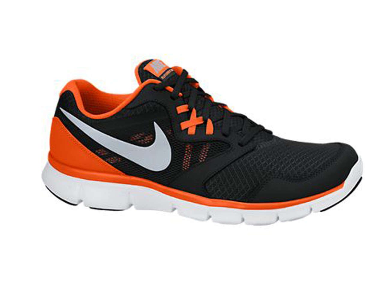 5a5fe38ab459 Nike Men s Flex Experience Run 3 Running Shoes Black Team Orange - Shop now