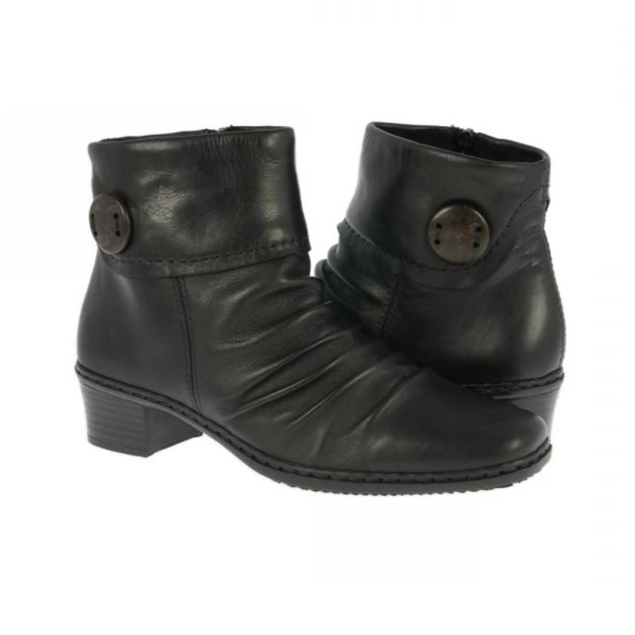Rieker Kendra 63 Black Ladies Ankle