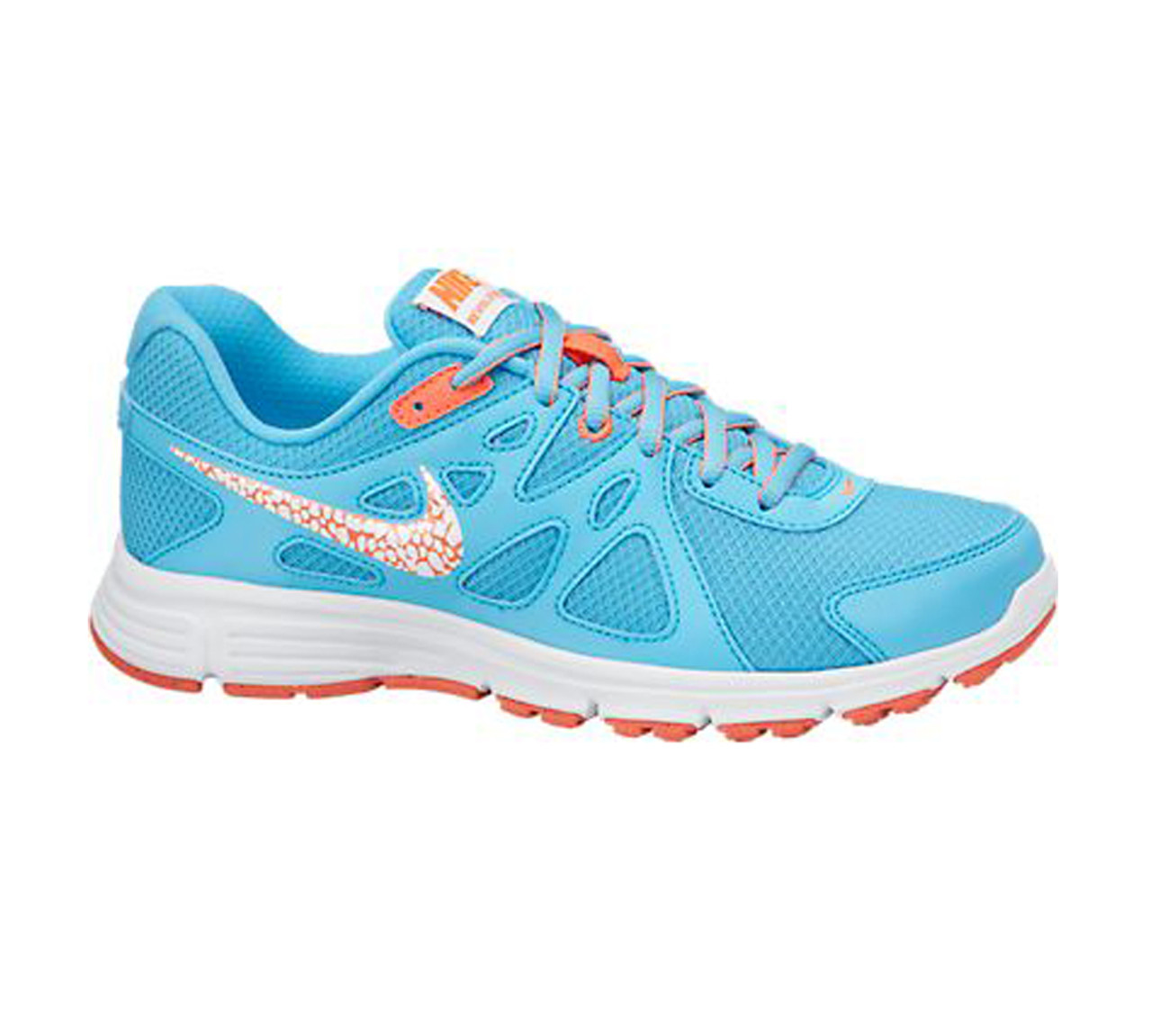 4b8af91a Nike Women's Revolution 2 Running Shoe Clearwater/Hot Lava