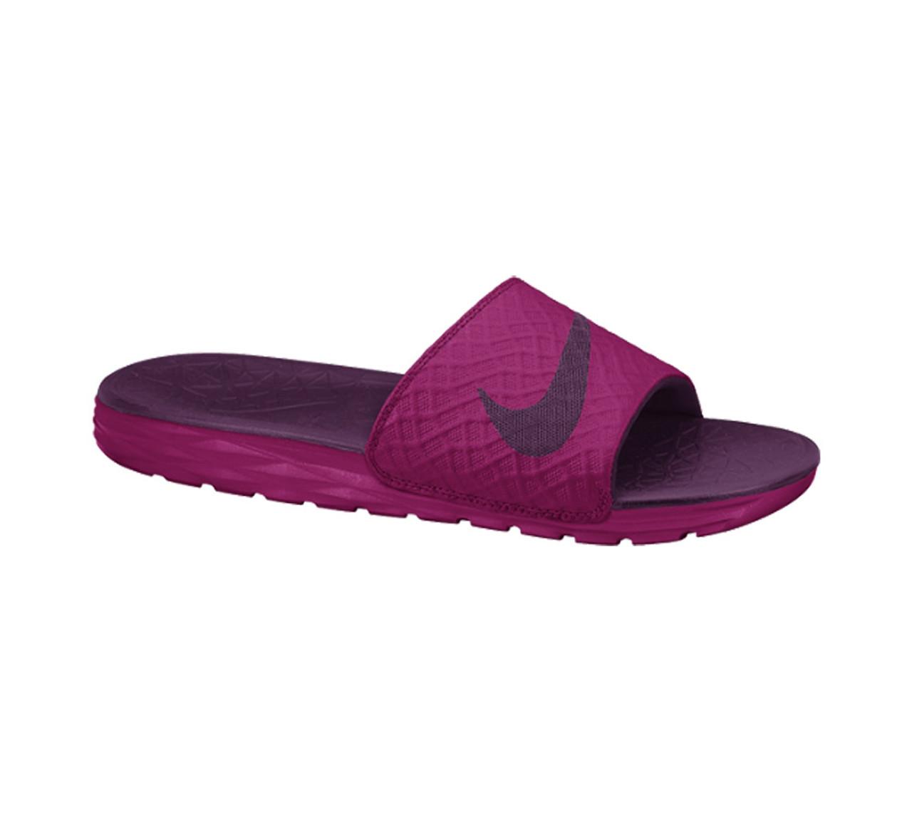 88afea5d9 Nike Women s Benassi Solarsoft Slide 2 Fuchsia Mulberry - Shop now    Shoolu.com