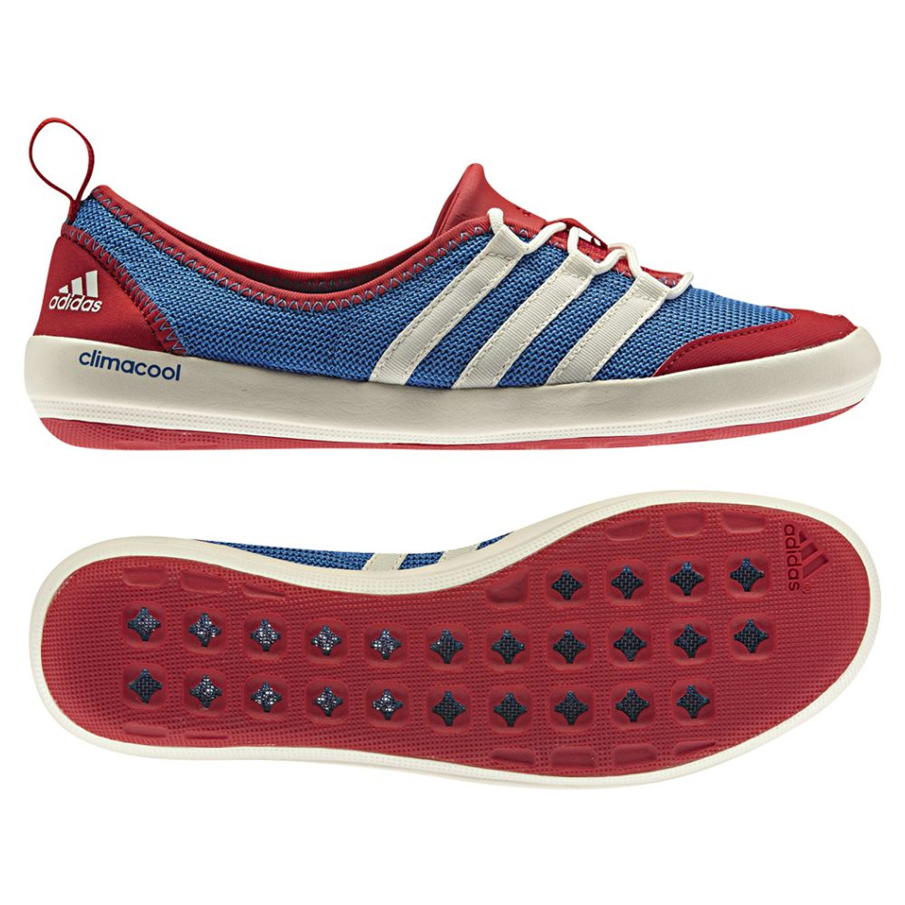 new concept ed060 34044 Adidas Climacool Boat Sleek Red/Wht/Blue Ladies Outdoor Shoes