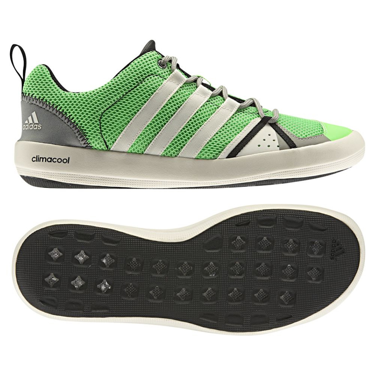 premium selection a3aaa 9e7fa Adidas Climacool Boat Lace Green/White Mens Outdoor Shoes