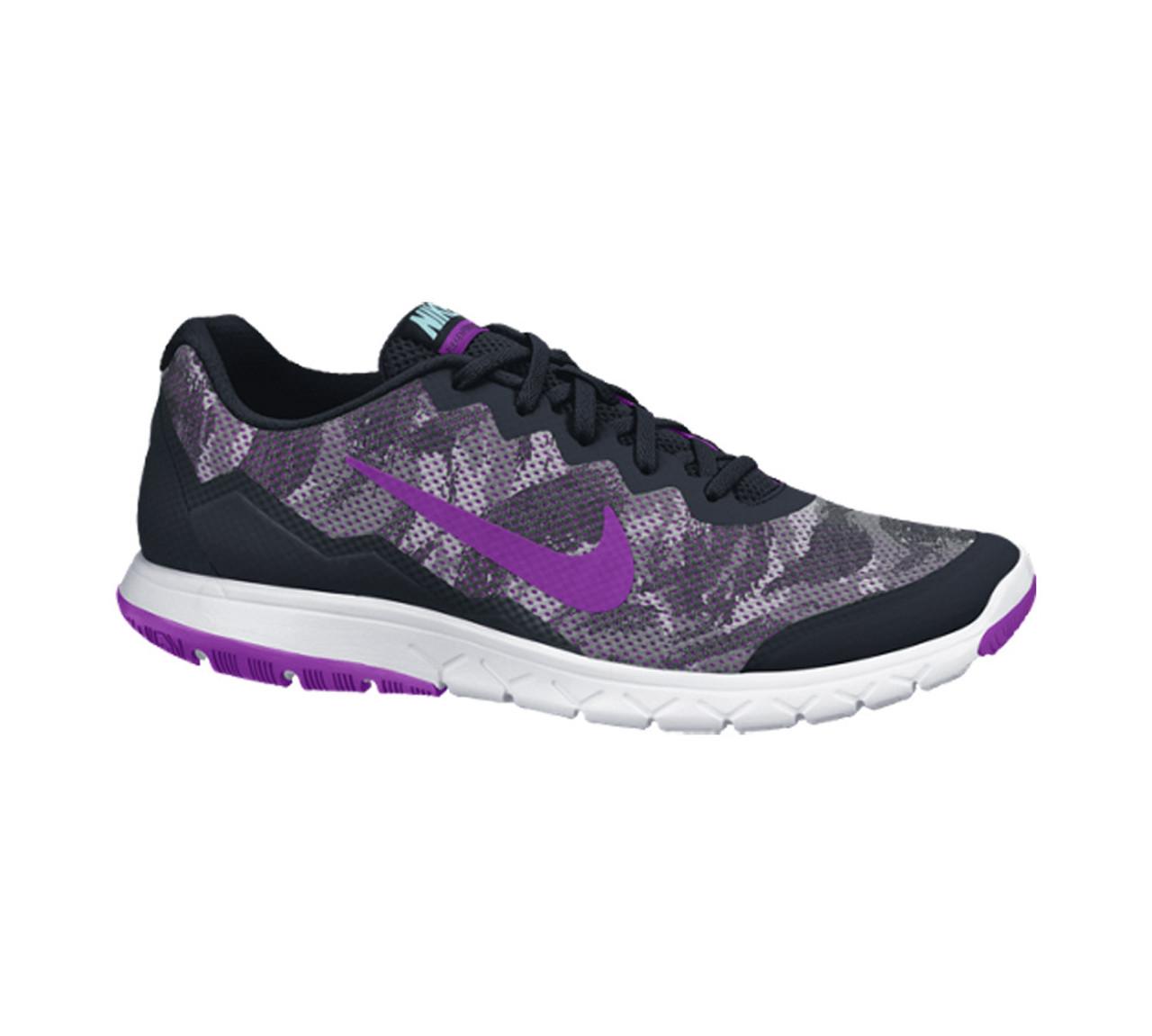 a06bb67e7784 Nike Women s Flex Experience RN 4 Prem Running Shoe Black Purple - Shop now