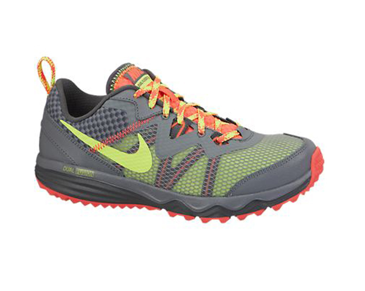 227877f13fc Nike Women s Dual Fusion Trail Running Shoes Grey Punch Volt - Shop now