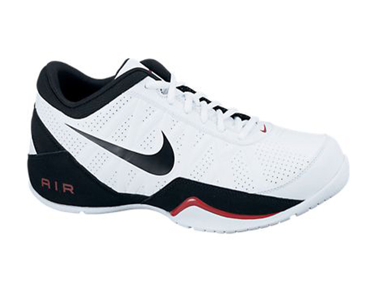 4a633944690fbe Nike Men s Air Ring Leader Low Basketball Shoes White Black - Shop now    Shoolu
