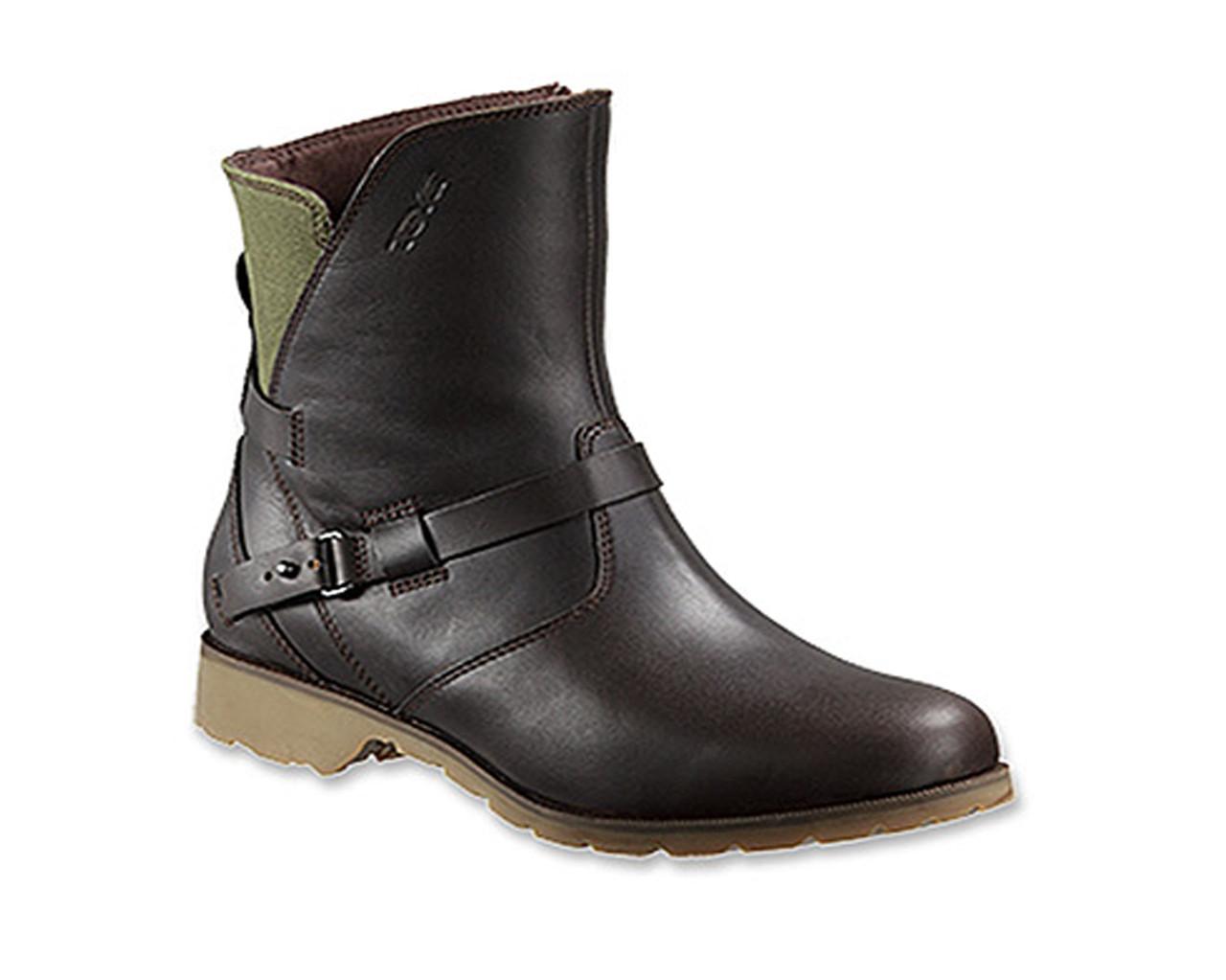 74d4a70c965fe9 Teva Women s De La Vina Low Leather Canvas Boot Brown Green - Shop now