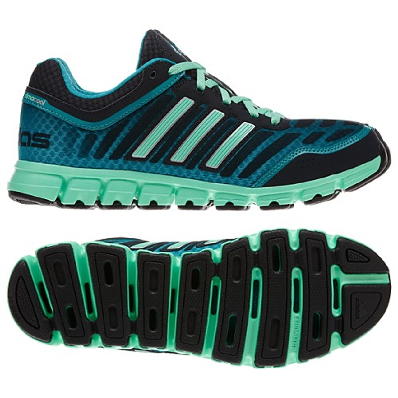 brand new b987c 800cb Adidas ClimaCool Aerate 2 Black Womens Running Shoes