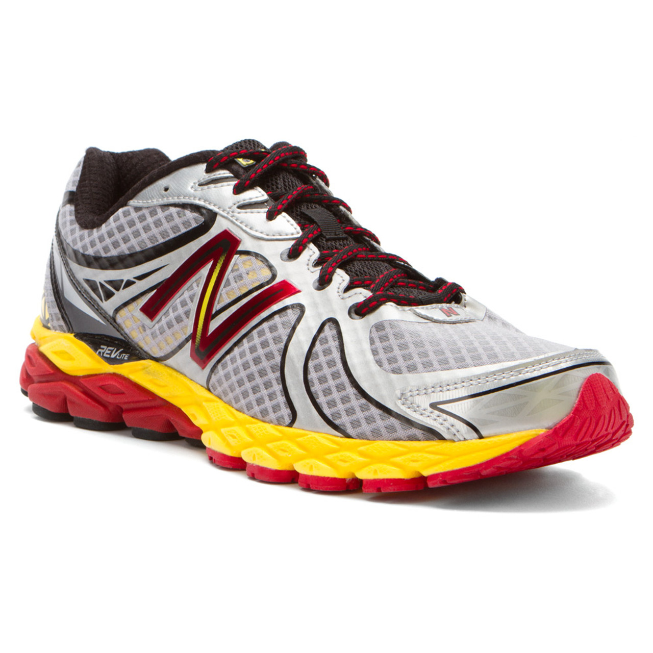 official photos 6ace4 97a4c New Balance M870SY3 Silver Yellow Red Mens Running Shoes - Shop now   Shoolu