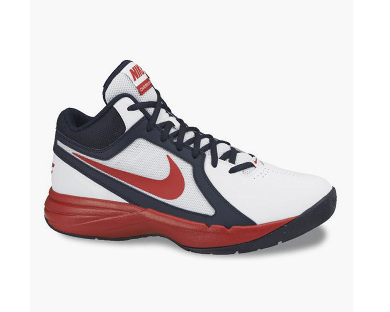 913d4a1f4089 Nike Men s The Overplay VIII Basketball Shoes White Red Blue - Shop now