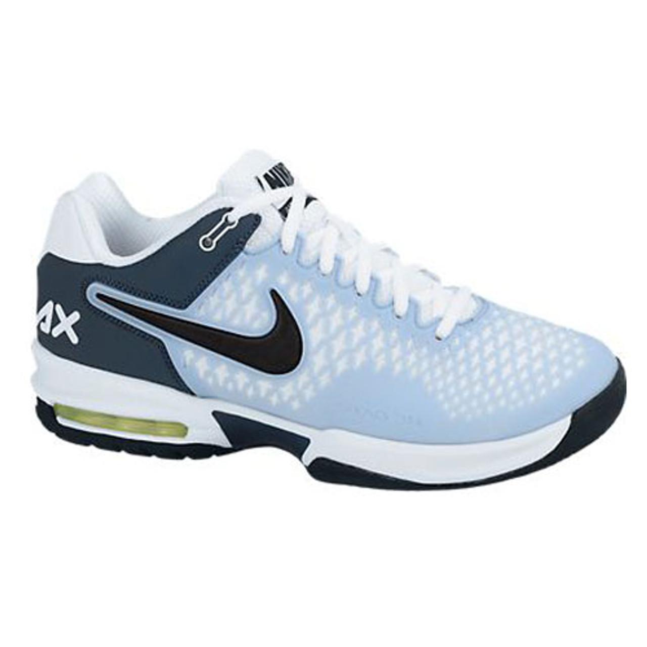 Nike Air Max Cage Light Blue Ladies Tennis Shoes