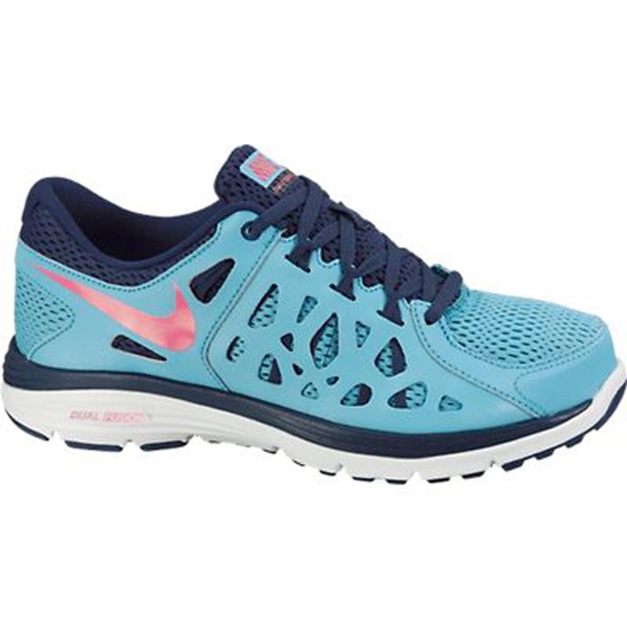 regard détaillé 6ef38 ed8dc Nike Dual Fusion Run 2 Blue/Pink Ladies Running Shoes