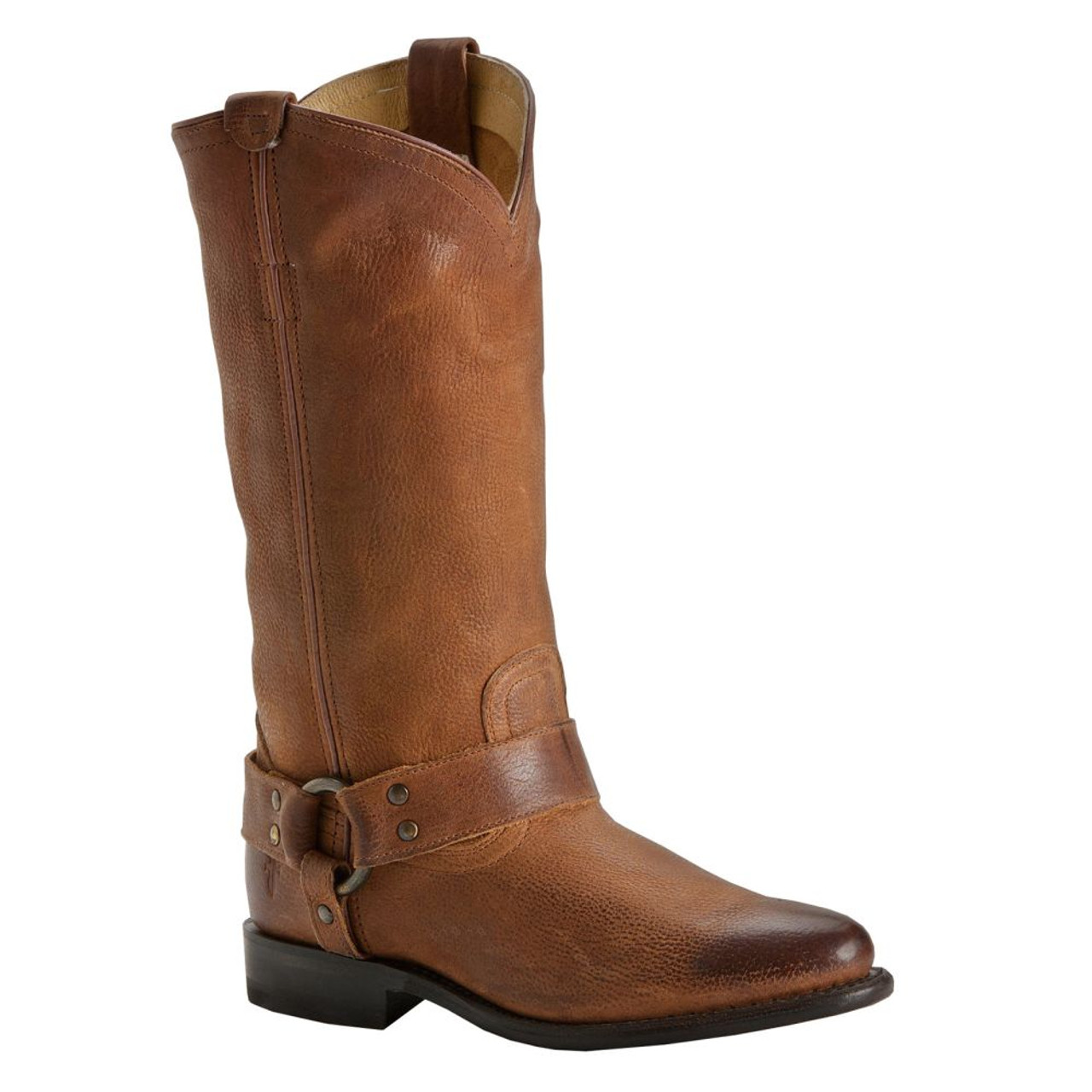 5feb655c32d FRYE Women's Wyatt Harness Boots Tan Distressed Nubuck