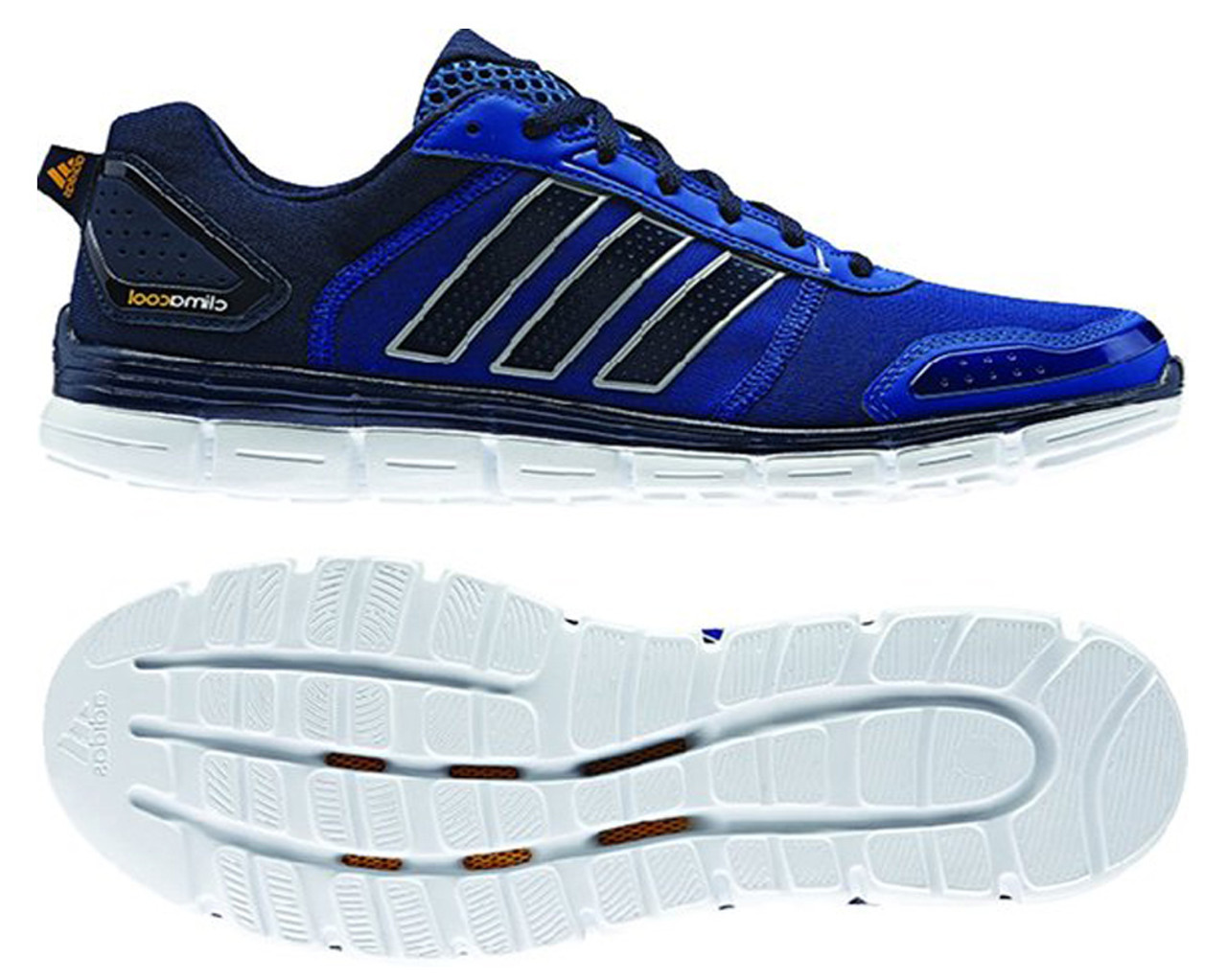 Adidas Men's Climacool Aerate 3 Running Shoes Navy/Solar Gold