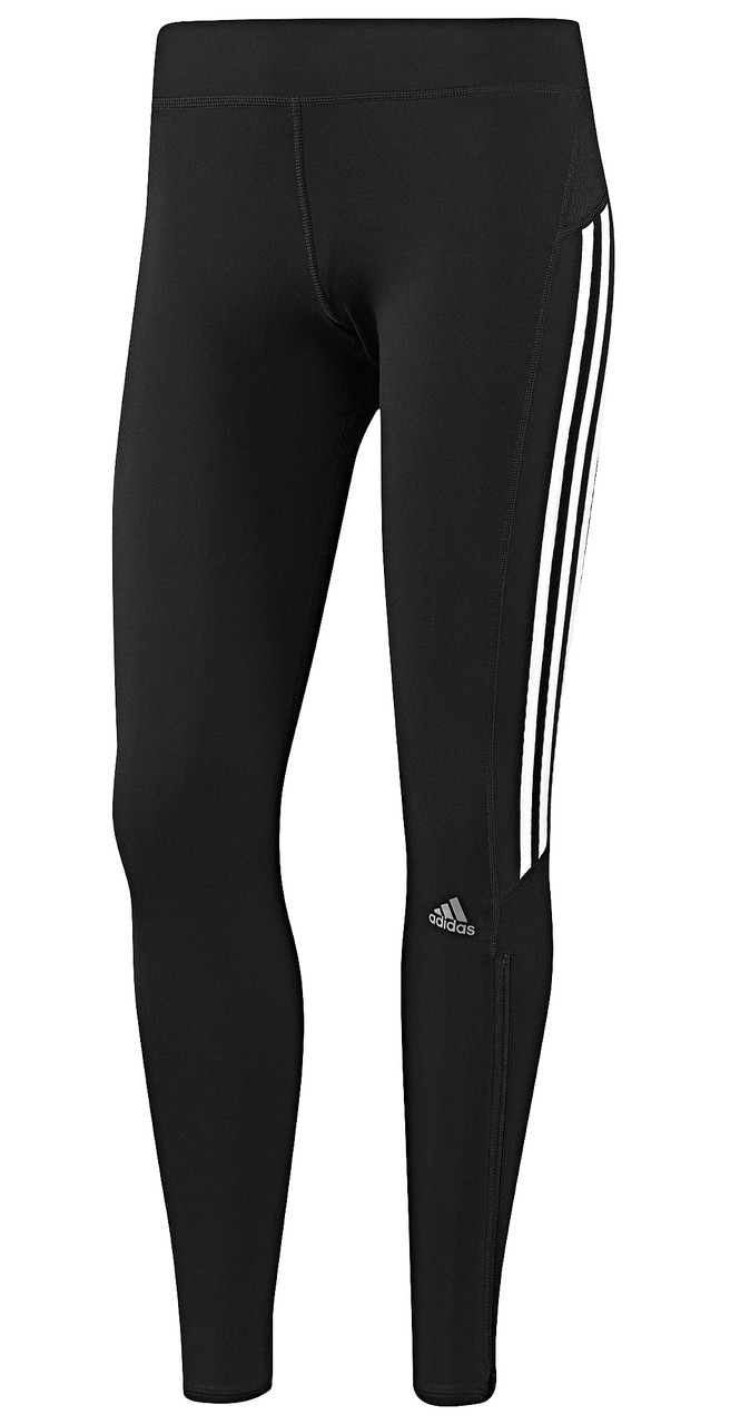 Adidas Women's Response Long Tights Black/White D85488