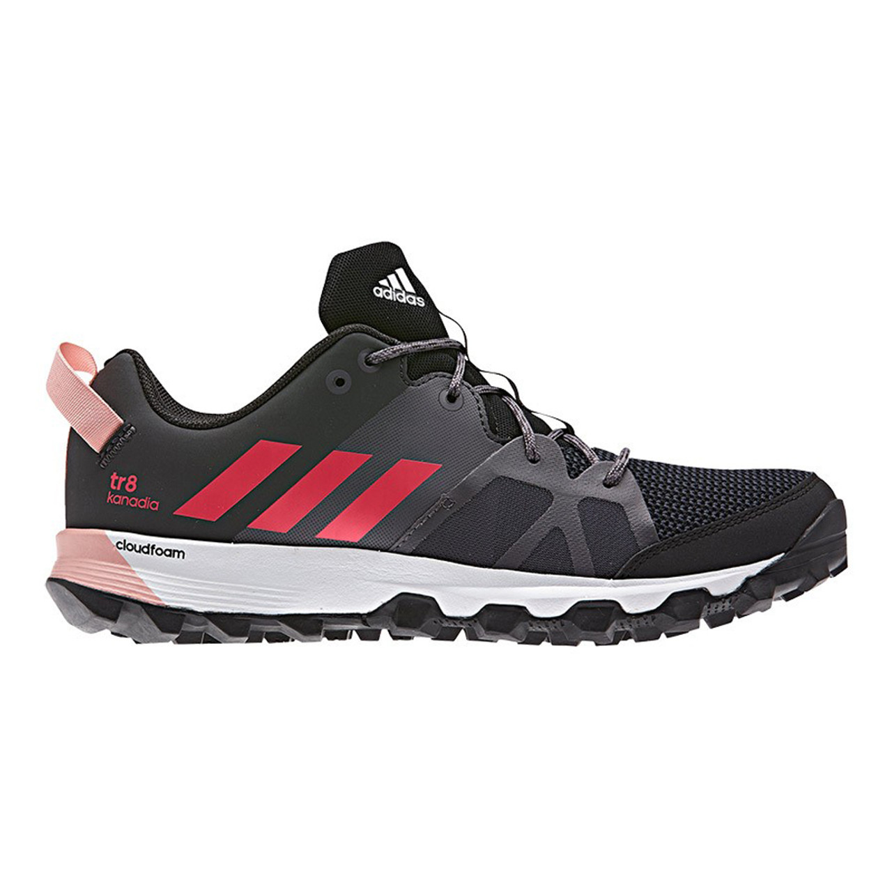 485a453a4f18 Adidas Women s Kanadia 8 Trail Running Shoe Black Pink Grey - Shop now