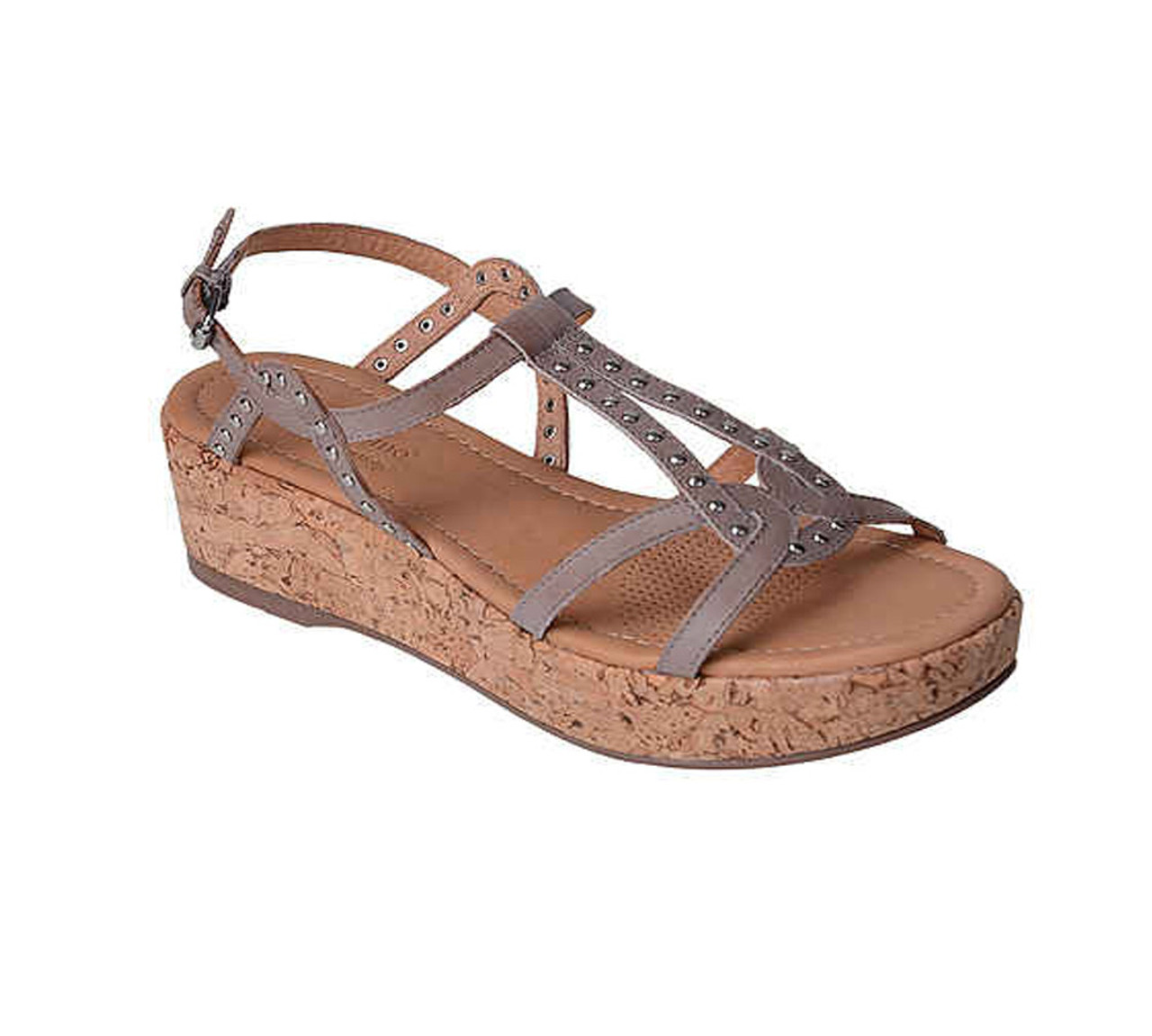 0c457c755c Corso Como Women's Sandi Sandal Taupe Brushed Leather - Shop now @  Shoolu.com