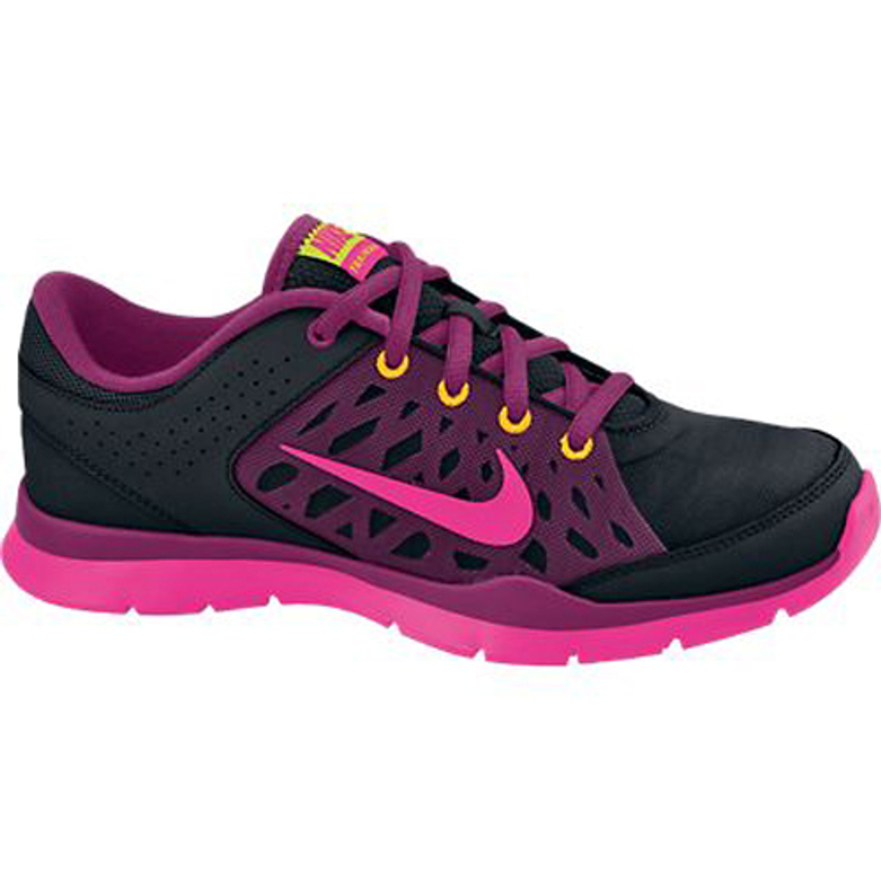 new release detailing the latest New Nike Flex Trainer 3 Black/Pink Ladies Cross Trainers