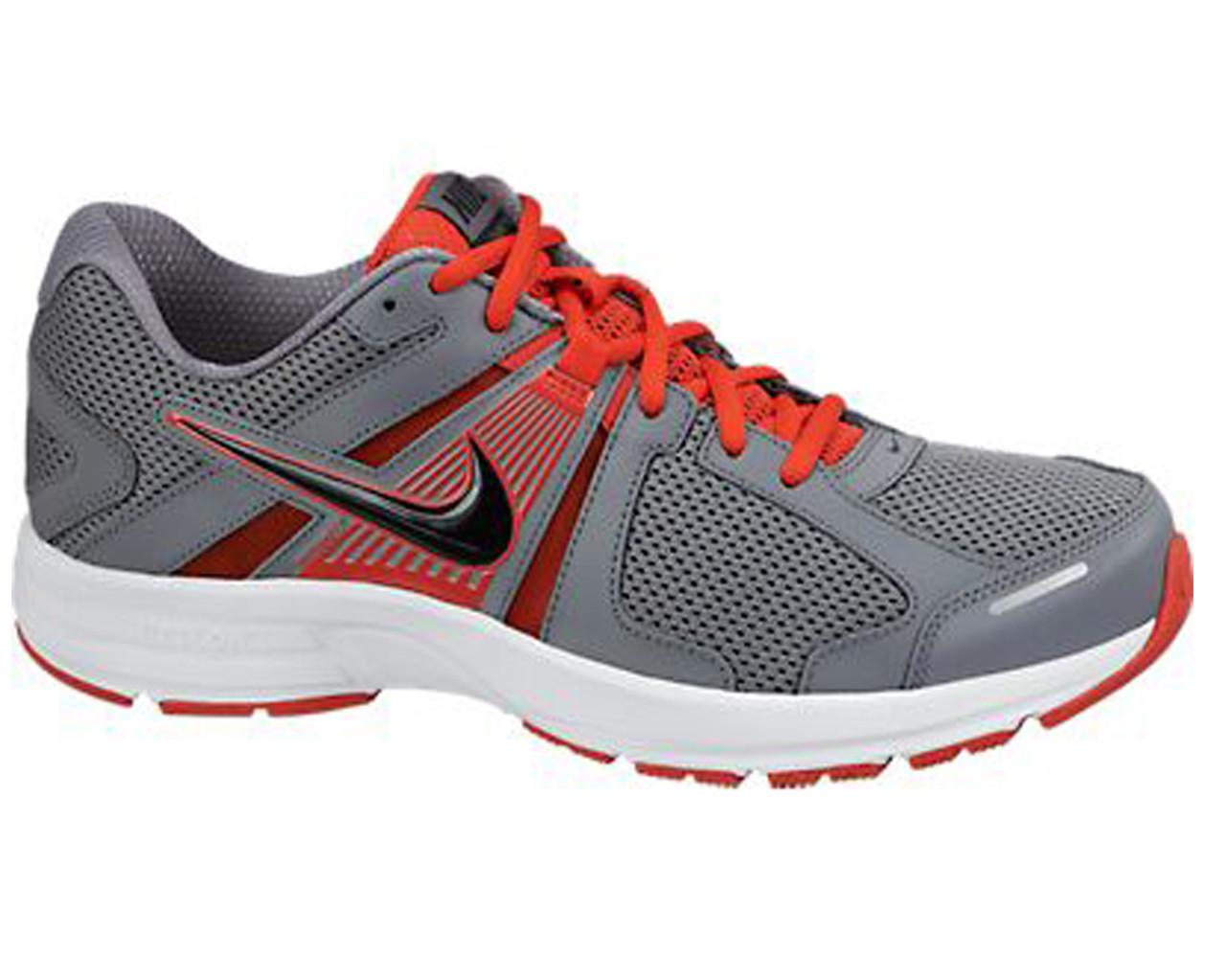 77e83796169ff Nike Men s Dart 10 Running Shoes Grey Crimson - Shop now   Shoolu.com