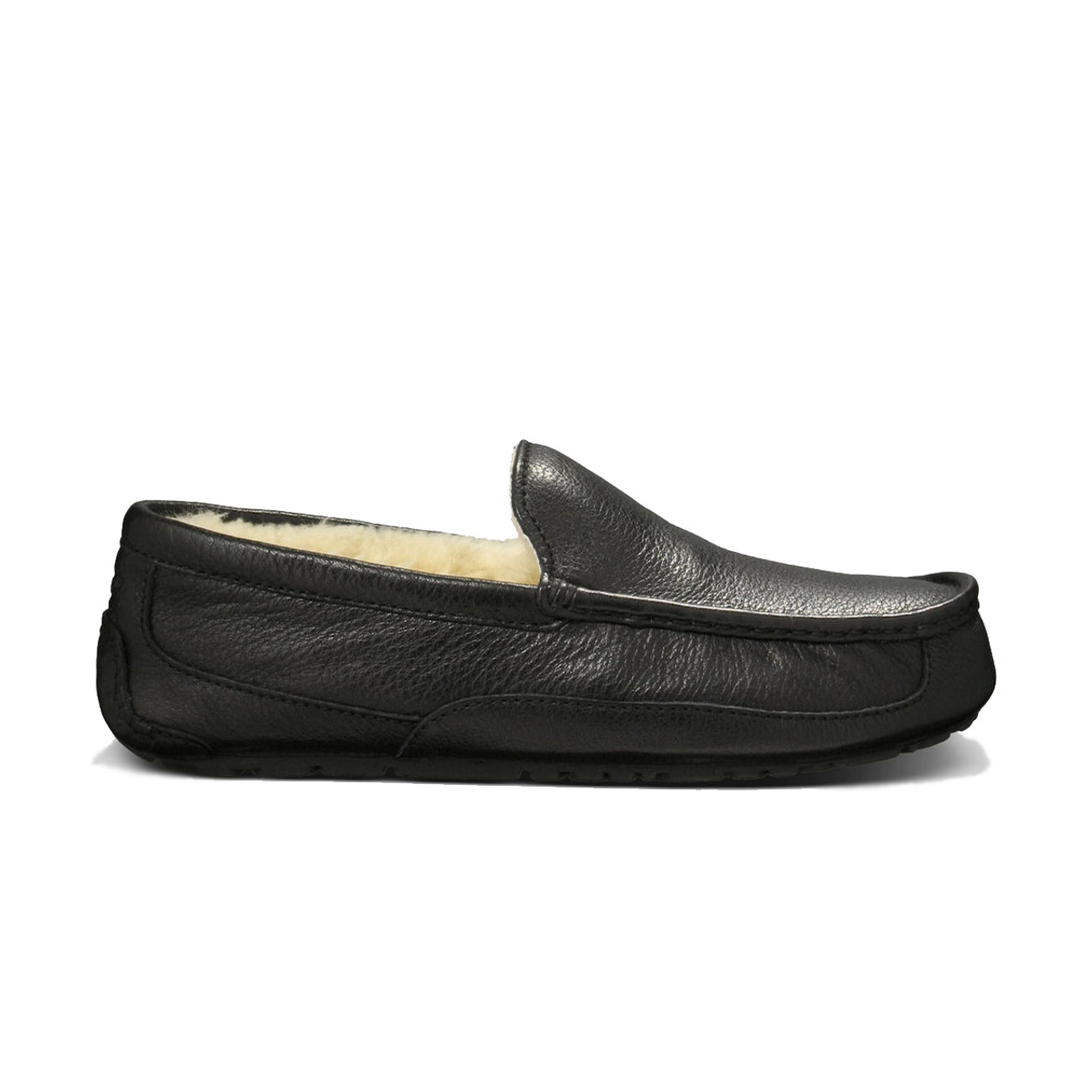 a117db895c0 UGG Ascot Slipper Black Leather Mens 5379B