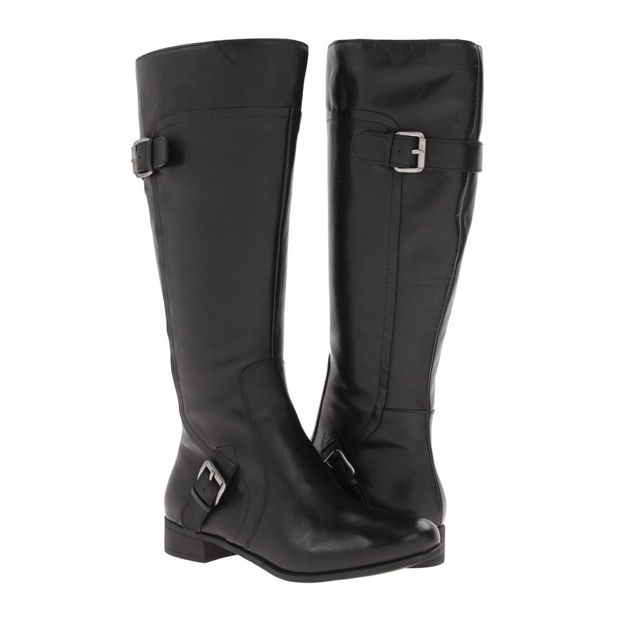 28e7868d67a Nine West Sookie Riding Boot Black Leather Ladies