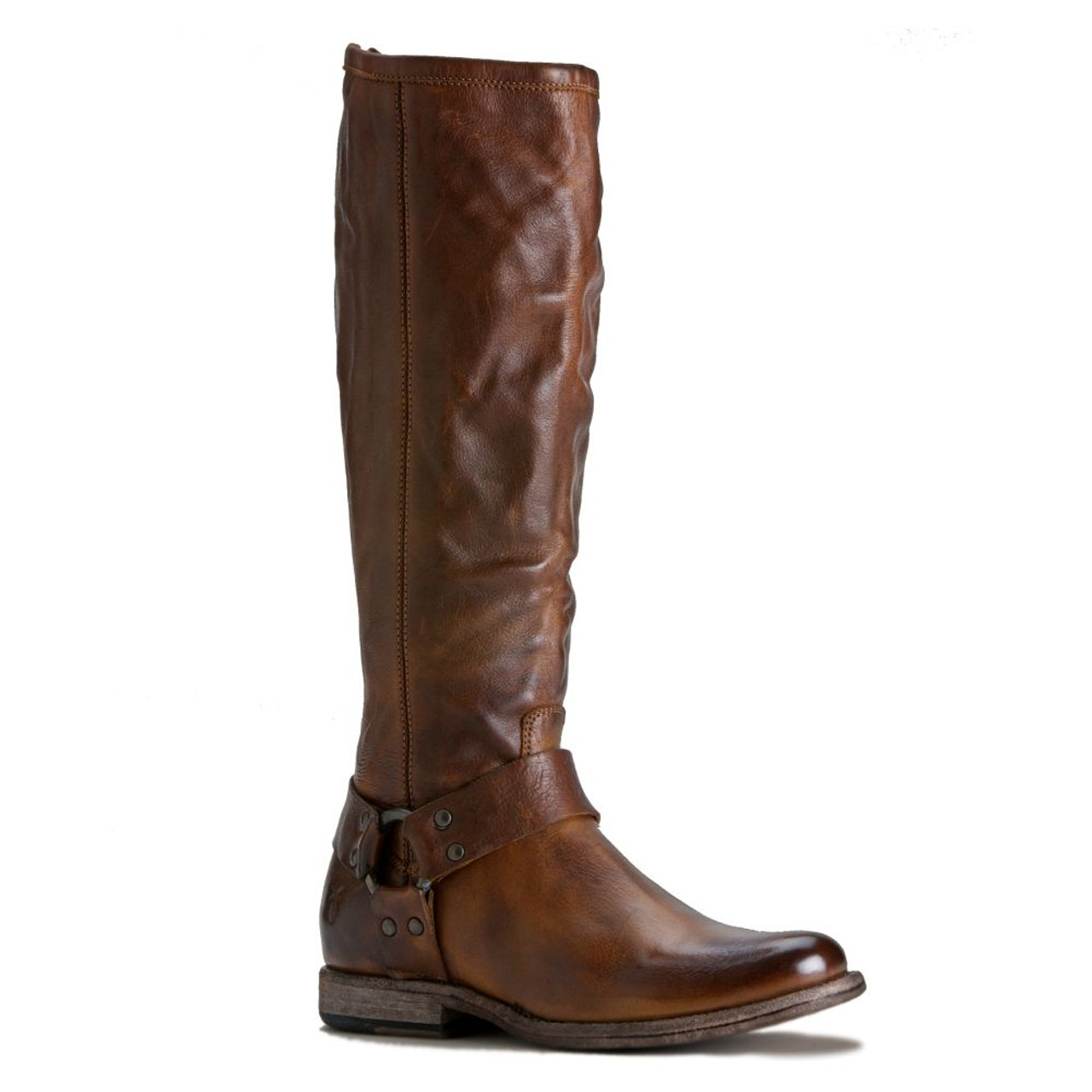 76850 cog__02496.1488874446?c=2&imbypass=on new frye phillip harness tall cognac soft vintage leather boots