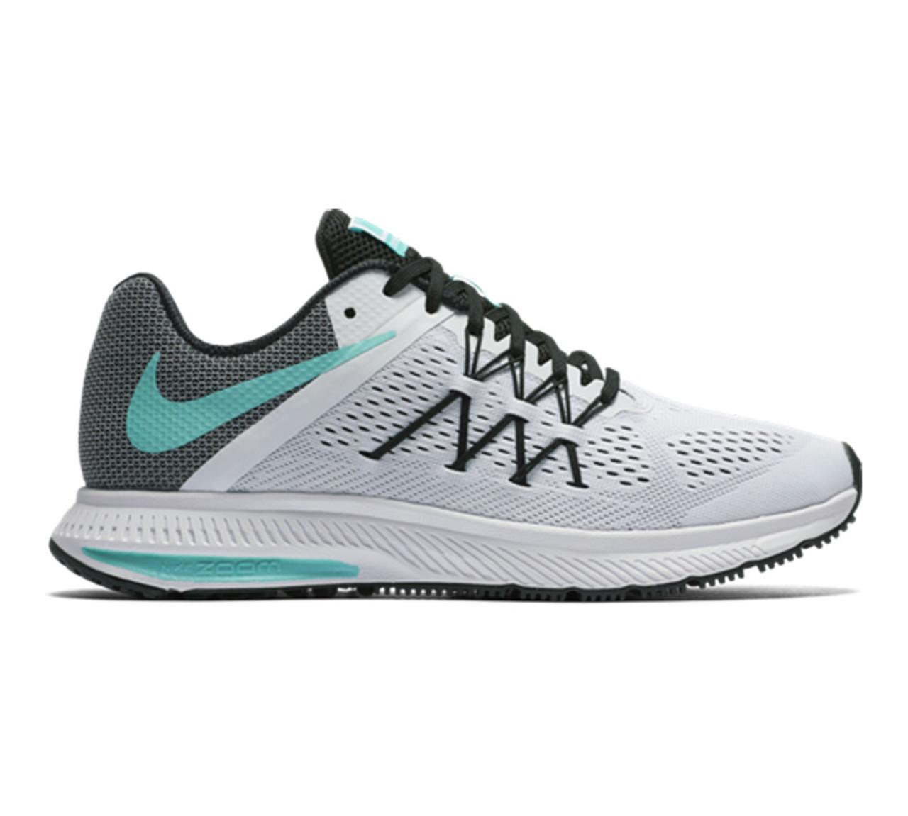 74905ef0c431e Nike Women's Zoom Winflo 3 Running Shoe White/Turquoise
