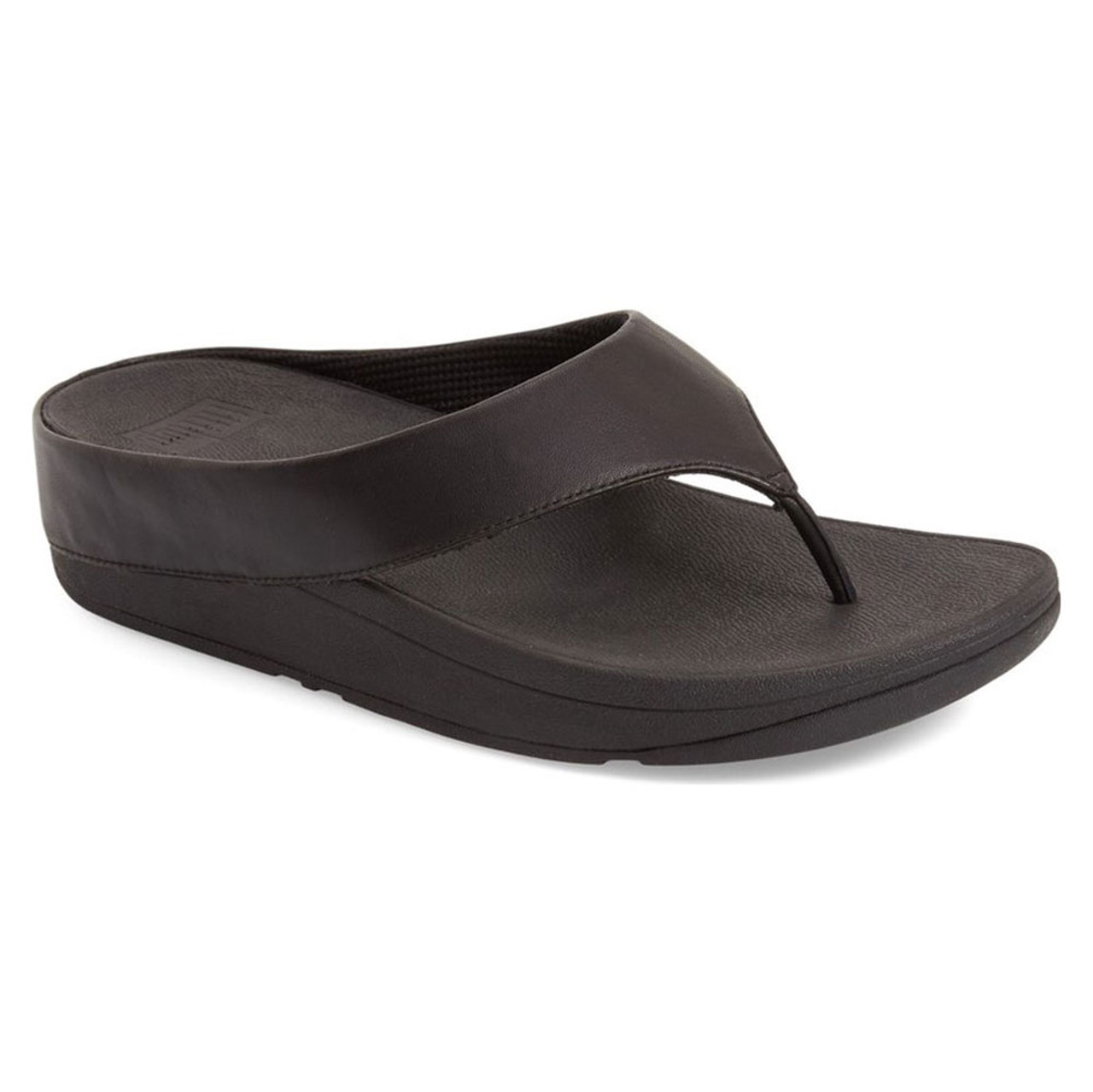 c0a1423cf5da Fitflop Women s Ringer Toe Post Thong All Black - Shop now   Shoolu.com