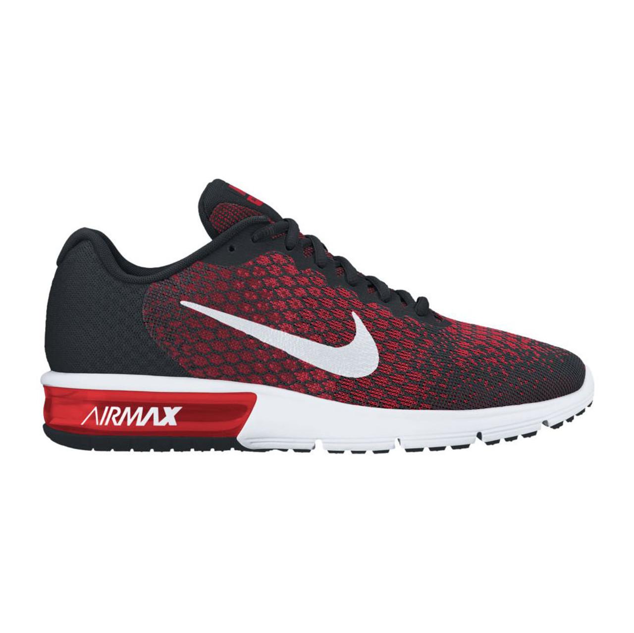 cf3fff4145 Nike Men's Air Max Sequent 2 Running Shoe Black/Red - Shop now @ Shoolu