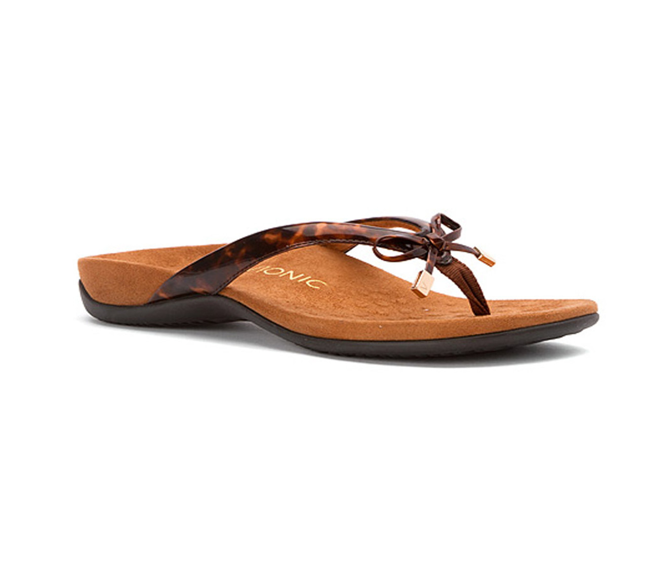 6901c6d84c57af Vionic Women s Rest Bella II Flip Flop Tortoise - Shop now   Shoolu.com