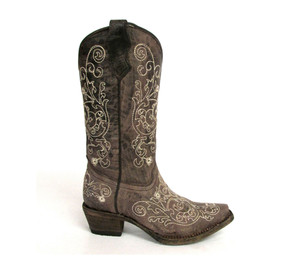 CORRAL Girl/'s A1029 Wing /& Cross Western Boot