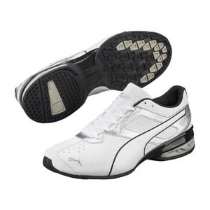 Puma. Men s Tazon 6 FM Running Shoe White Silver Black dc9b475c7